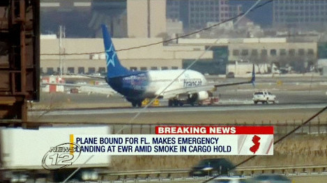Fire causes Montreal-Fort Lauderdale flight to make emergency landing at Newark