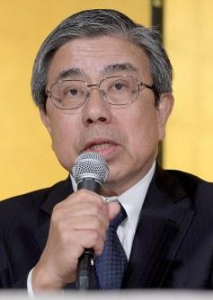 大阪府知事選への出馬を表明し、記者会見する小西禎一氏=大阪市北区で2019年3月11日午後5時14分、平川義之撮影