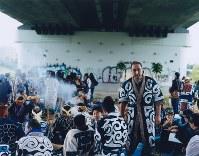 アシリチェプノミ(鮭を迎える儀式。アイヌ語の音の表記では『リ』と『プ』は小文字で書き、母音は発音しない)。札幌市で2015年9月=「AINU」から(c)HIROSHI IKEDA