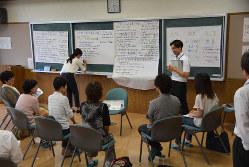 岩手県矢巾町での「フューチャーデザイン」の住民討議 矢巾町役場提供