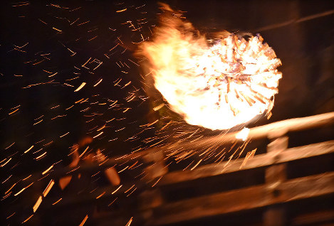 In Photos: Historical torch ceremony lights up Nara temple
