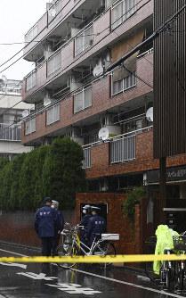 加藤邦子さんの遺体が見つかったマンション=東京都江東区で2019年2月28日午後3時58分、藤井達也撮影
