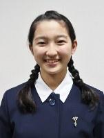 被爆3世で純心中学校1年の岡田夕咲さん=NPO法人「アースキャラバン」提供