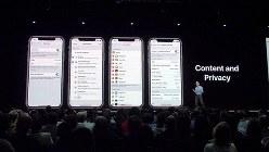 プライバシー重視の方針を打ち出すアップル。開発者向け会議でもプライバシーに関してはたびたび言及される(写真は2018年6月のアップルの年次開発会議<WWDC>)