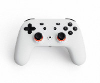 This image provided by Google shows the controller for a video-game streaming platform called Stadia, positioning itself to take on the traditional video-game business. (Google via AP)