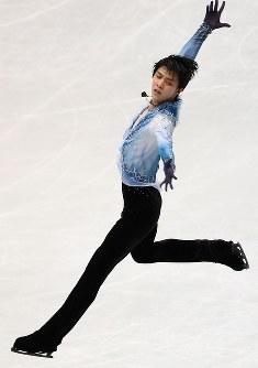 男子SPで演技する羽生結弦=さいたまスーパーアリーナで2019年3月21日、佐々木順一撮影