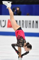女子フリーに向けて練習するアリーナ・ザギトワ=さいたまスーパーアリーナで2019年3月22日、宮間俊樹撮影