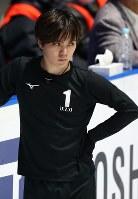 男子フリーに向けて練習用リンクで調整する宇野昌磨=さいたまスーパーアリーナで2019年3月22日、佐々木順一撮影