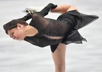 女子フリーで演技するエフゲニア・メドベージェワ=さいたまスーパーアリーナで2019年3月22日、宮間俊樹撮影