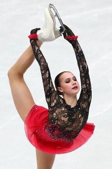 優勝したザギトワのフリーの演技=さいたまスーパーアリーナで2019年3月22日、佐々木順一撮影