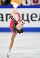 女子フリーで優勝したアリーナ・ザギトワ=さいたまスーパーアリーナで2019年3月22日、宮間俊樹撮影