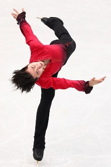 男子フリーで演技する金博洋=さいたまスーパーアリーナで2019年3月23日、佐々木順一撮影