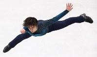 男子フリーで演技する宇野昌磨=さいたまスーパーアリーナで2019年3月23日、佐々木順一撮影