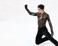 男子フリーの演技を終えた羽生結弦=さいたまスーパーアリーナで2019年3月23日、佐々木順一撮影