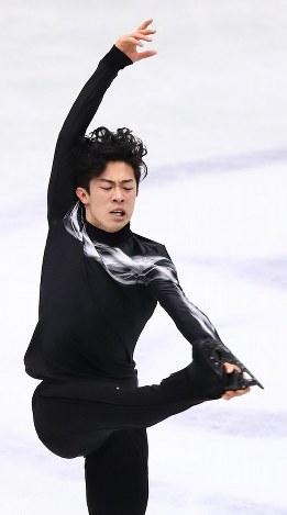 男子シングルで優勝したネーサン・チェンのフリーの演技=さいたまスーパーアリーナで2019年3月23日、佐々木順一撮影