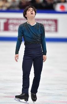 男子フリーの演技を終えて冴えない表情の宇野昌磨=さいたまスーパーアリーナで2019年3月23日、宮間俊樹撮影