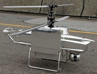A heat-resistant armored drone designed to observe and evaluate large fires in petrochemical complexes is seen. (Photo courtesy of the National Research Institute of Fire and Disaster)