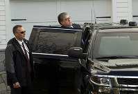 Attorney General William Barr leaves his home in McLean, Va., on March 22, 2019. Special Counsel Robert Mueller is expected to present a report to the Justice Department outlining the findings of his investigation into Russian election meddling . (AP Photo/Jose Luis Magana)