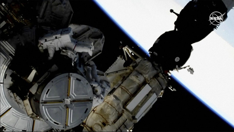 Space station's crew upgrades batteries and prepares for all-female spacewalk