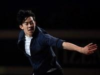 エキシビションで演技するネーサン・チェン=さいたまスーパーアリーナで2019年3月24日、宮間俊樹撮影