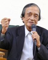 影書房前代表・松本昌次さん=東京都内で2016年8月、吉川光さん撮影