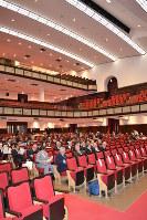 名古屋市公会堂大ホールの客席は2階バルコニー席や3階席も合わせて計1552席を備える=名古屋市昭和区で2019年3月22日9時40分、山田泰生撮影