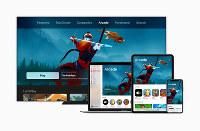 アップルが発表したゲームの定額サービス「アップルアーケード」のイメージ=アップル提供