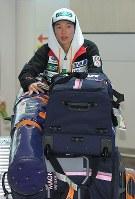 ジャンプW杯で総合優勝を果たし、シーズンを終えて帰国した小林陵侑=羽田空港で2019年3月26日午前11時33分、手塚耕一郎撮影