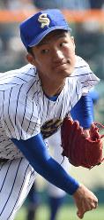 【松山聖陵-大分】松山聖陵の3番手・根本=阪神甲子園球場で2019年3月27日、徳野仁子撮影