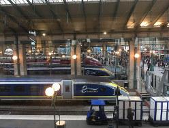 パリ北駅に停車するユーロスター(筆者撮影)