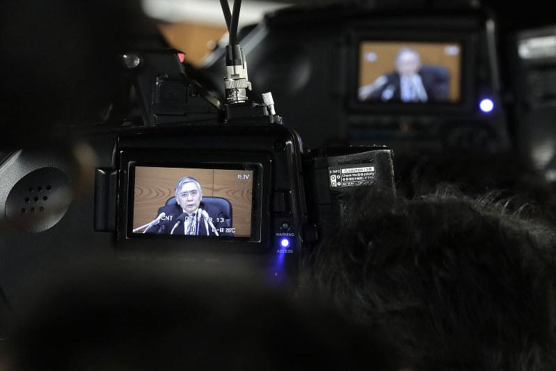 中央銀行が目標とするインフレ率に届かない・・・・・・(日銀の黒田東彦総裁)(Bloomberg)