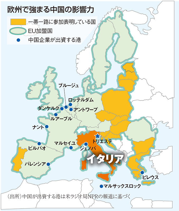 欧州で強まる中国の影響力