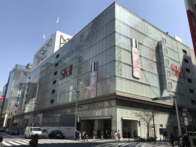 松屋銀座=2019年3月20日、田中学撮影