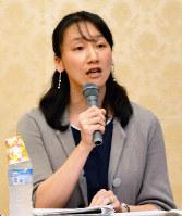 「いのち」にかかわる平和の問題などについて語る孫美幸さん=大阪市内で、芝村侑美撮影