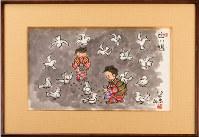 毎年、終戦記念日の前後の期間、御所の居間にこの絵が飾られる