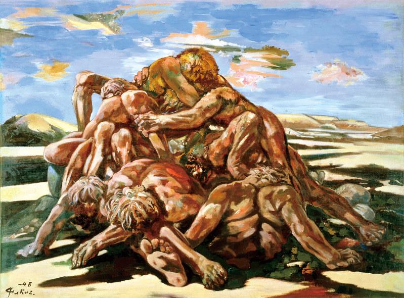 《敗戦群像》1948年 群馬県立近代美術館蔵