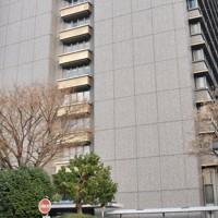 広島県警本部が入る広島県庁東館=広島市中区で、小山美砂撮影