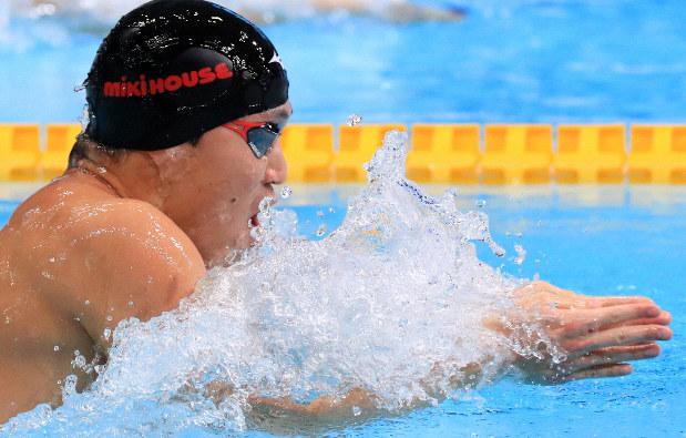 小関、派遣標準に届かず 男子100平泳ぎ - 毎日新聞