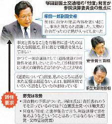 塚田副国土交通相の「忖度」発言問題