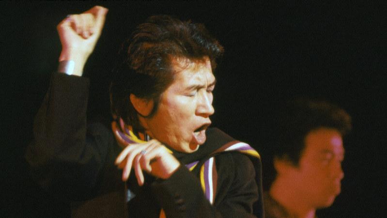 「サヨナラ日劇ウェスタンカーニバル」の公演をプロデュースし、出演もした内田裕也さん=東京都千代田区の日劇で1981年1月