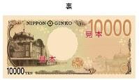 新しい1万円札のデザイン(裏)、東京駅・丸の内駅舎=財務省提供