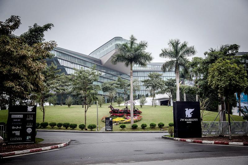 ベトナム・ハノイのJWマリオット・ホテル。2月の米朝首脳会談時、トランプ米大統領が宿泊した(Bloomberg)