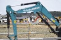 建設が進む災害公営住宅=福島県大熊町の大川原地区で2019年4月10日午前9時2分、渡部直樹撮影