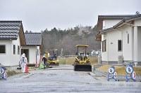 整備が進む災害公営住宅=福島県大熊町の大川原地区で2019年4月10日午後1時47分、渡部直樹撮影
