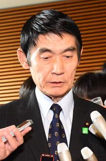 今村雅弘氏▼2017年4月=東日本大震災について「まだ東北だったから良かった。これが首都圏に近かったりすると、甚大な被害があった」と述べた
