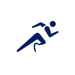 東京2020パラリンピックスポーツピクトグラム「陸上」=東京2020組織委員会提供