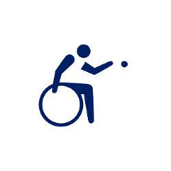 東京2020パラリンピックスポーツピクトグラム「ボッチャ」=東京2020組織委員会提供