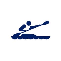 東京2020パラリンピックスポーツピクトグラム「カヌー」=東京2020組織委員会提供