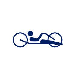 東京2020パラリンピックスポーツピクトグラム「自転車 ロード」=東京2020組織委員会提供