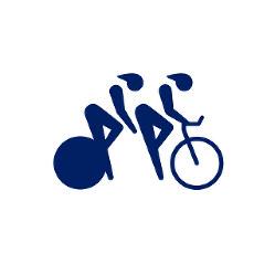 東京2020パラリンピックスポーツピクトグラム「自転車 トラック」=東京2020組織委員会提供